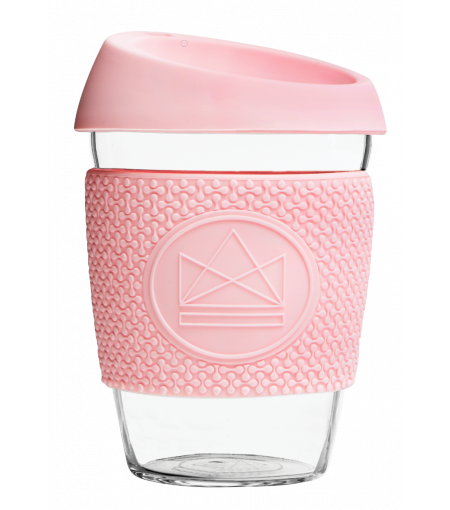Pink Reusable Glass Coffee Cup