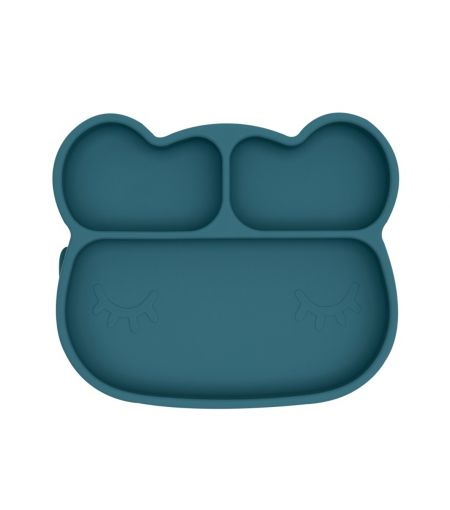 Silicone Suction Plate in Blue Dusk