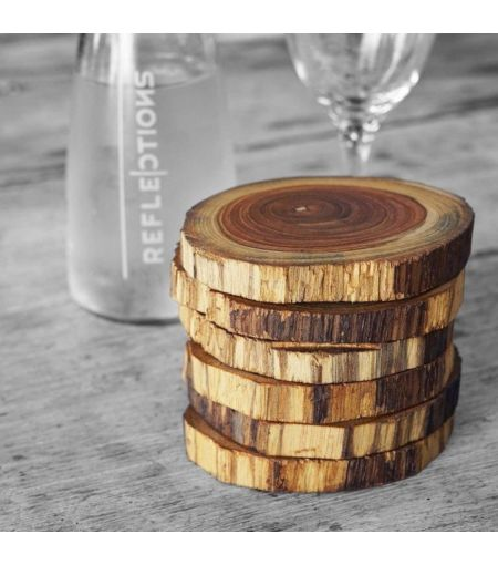 Rustic Wooden Coasters (Set of 6)