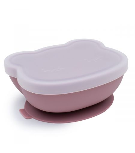 Silicone Suction Bowl in Dusty Rose