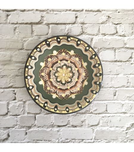 Small Green Troyan Ceramic Plate