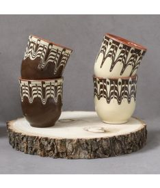 cermics, espresso cups, hand painted ceramics, coffee cup, beige cup, ceramic set, gifts for him, housewarming gifts