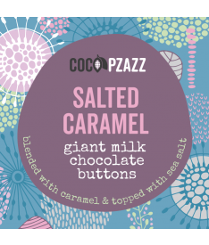 Giant Milk Chocolate Buttons – Salted Caramel 96g
