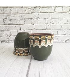 Green Ceramic Drinking Cups (Set of 2)