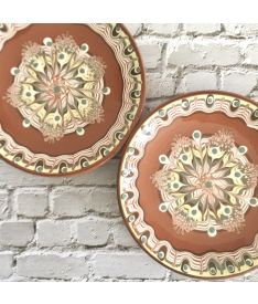 Earth Colours Ceramic Serving Plate, Handcrafted
