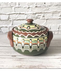Green Cooking Casserole Dish with Lid